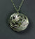 Swan Sterling Silver Swan Locket Pendant with gold heart in the center. Irish made Jewellery from Elena Brennan.