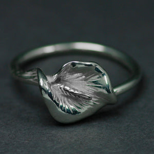Peace Lily Sterling Silver Ring