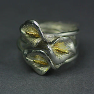 Trinity 1916 Lily Ring is handcrafted from Sterling Silver by Irish Jewellery Designer Elena Brennan.