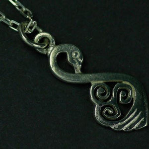 Sterling Silver Swan Pendant. Available as a jewellery set with earrings making the perfect gift!