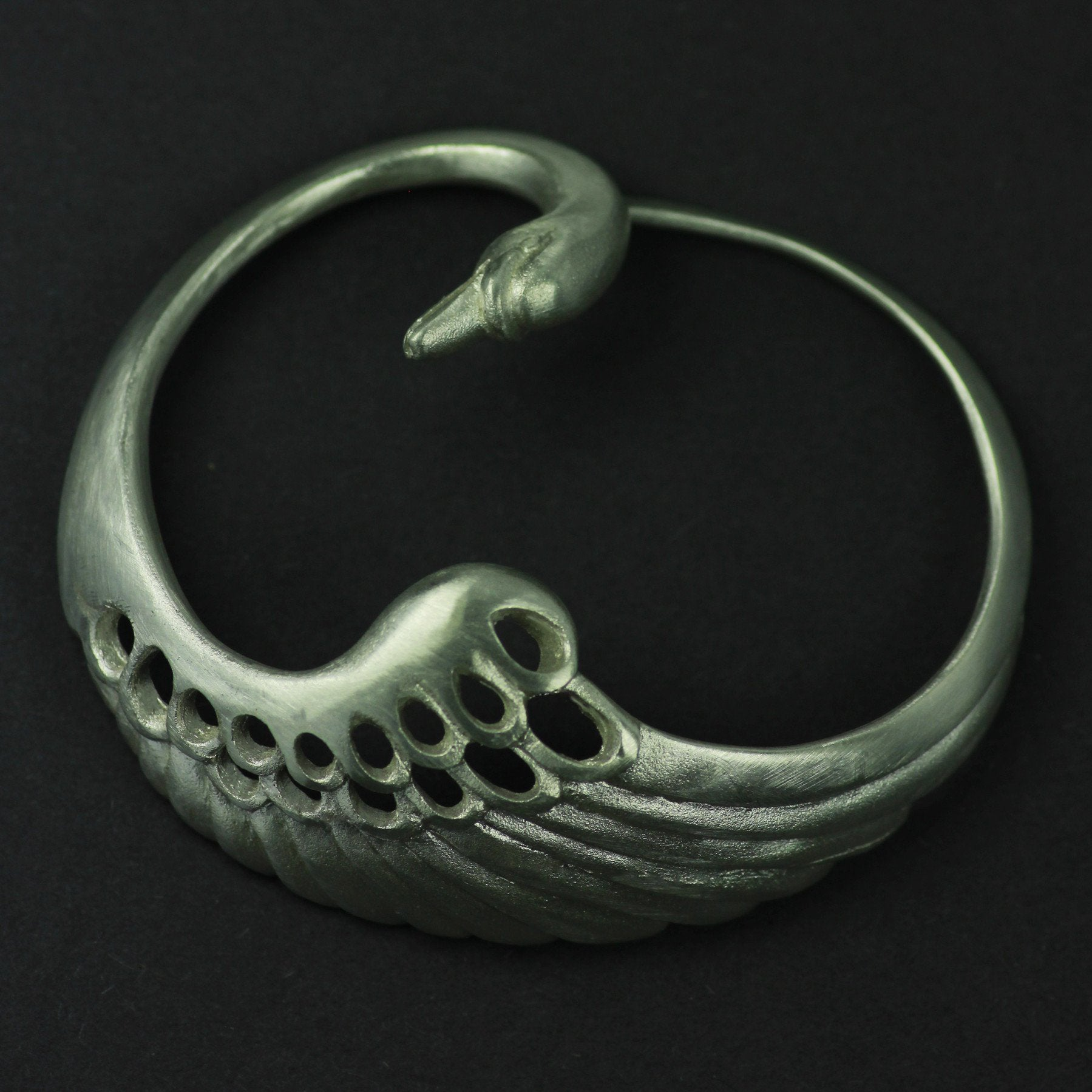 Swan Brooch made from Sterling Silver. This jewelry is also available as a pendant!
