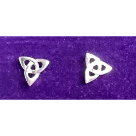 Sterling Silver Trinity Knot Stud Earrings handcrafted by Elena Brennan.