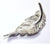 Angel Feather Brooch Irish designed and handmade by Elena Brennan Jewellery, Cavan, Ireland
