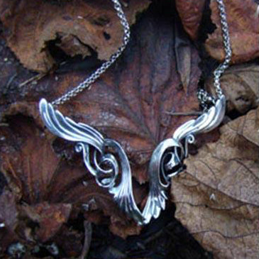 085f3e670e5 Large Angel Wings Pendant, handcrafted in sterling silver by Elena Brennan  Jewellery.