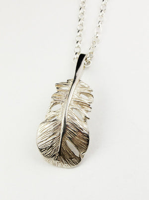 Baby Angel Feather Pendant, a sterling silver necklace, the perfect gift for that someone special, a reminder that the angels are near!