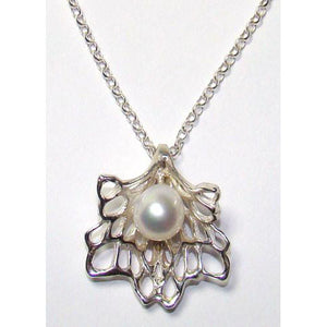 Petals & Pearls Pendant handcrafted by Irish jewellery designer Elena Brennan