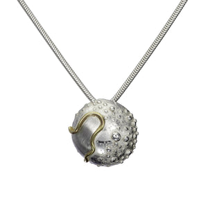 Small Cúrsa an tSaoil Pendant handcrafted from sterling silver by Elena Brennan Jewellery.