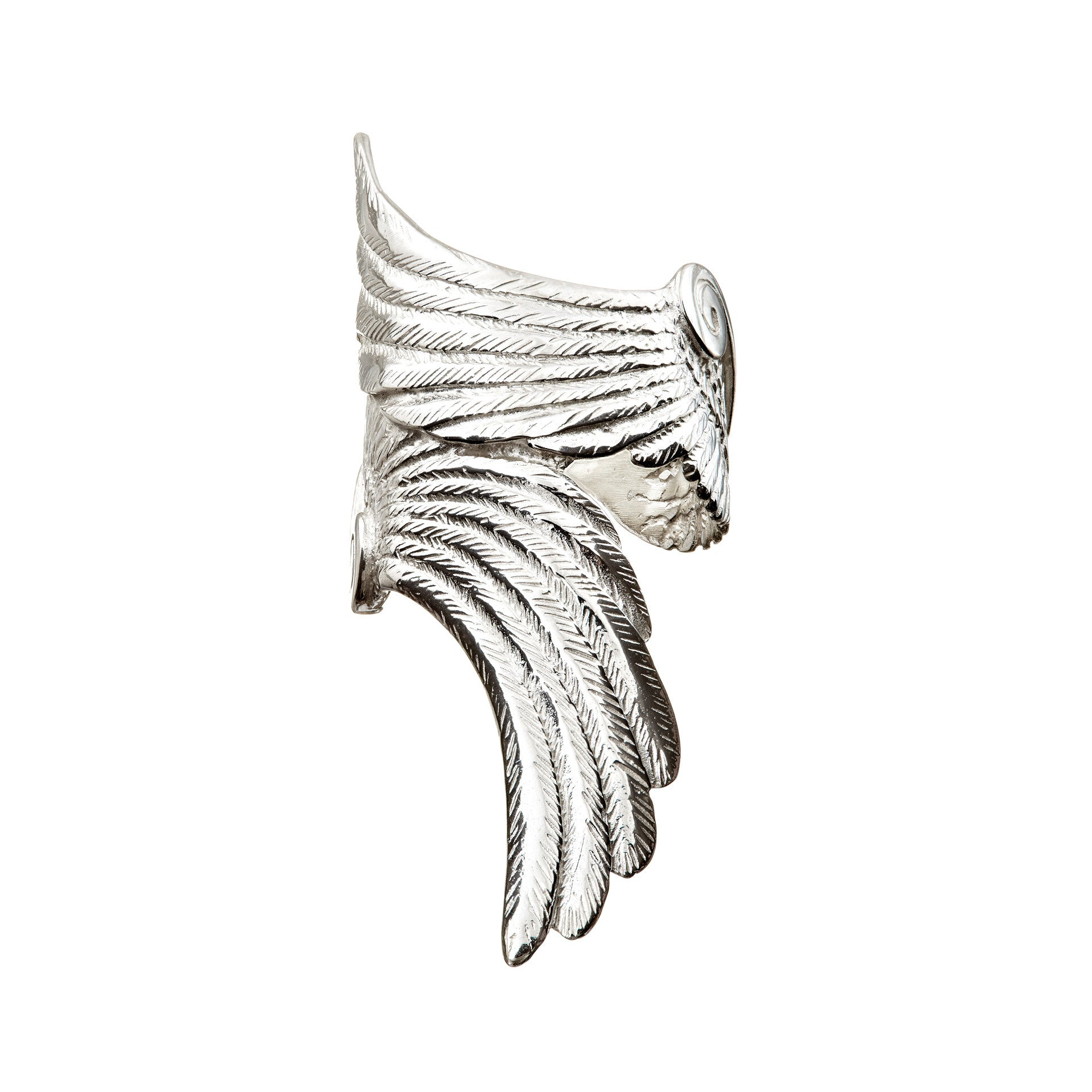 Handmade Angel Wings Ring Sterling Silver