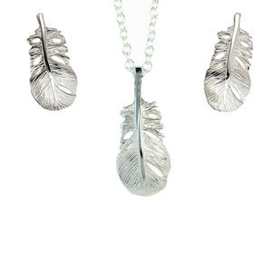 Baby Angel Feather Jewellery Set handcrafted with sterling silver.