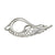 Sterling Silver Swan Brooch. Designed and handmade Irish Jewelry. Front view