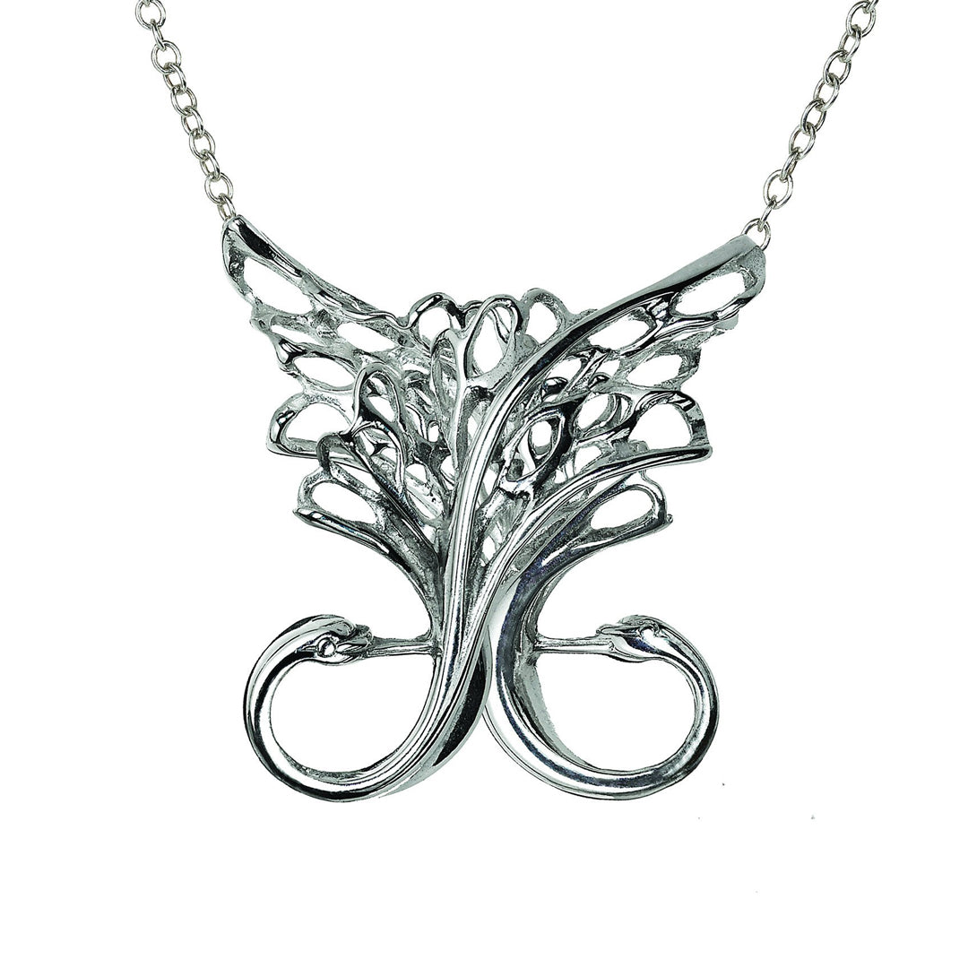 Children of Lir Swan Pendant. Handmade jewellery from Silver Sterling