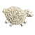 Curly Sheep Tie Tack, full of personality from the Simply Sheep Collection.