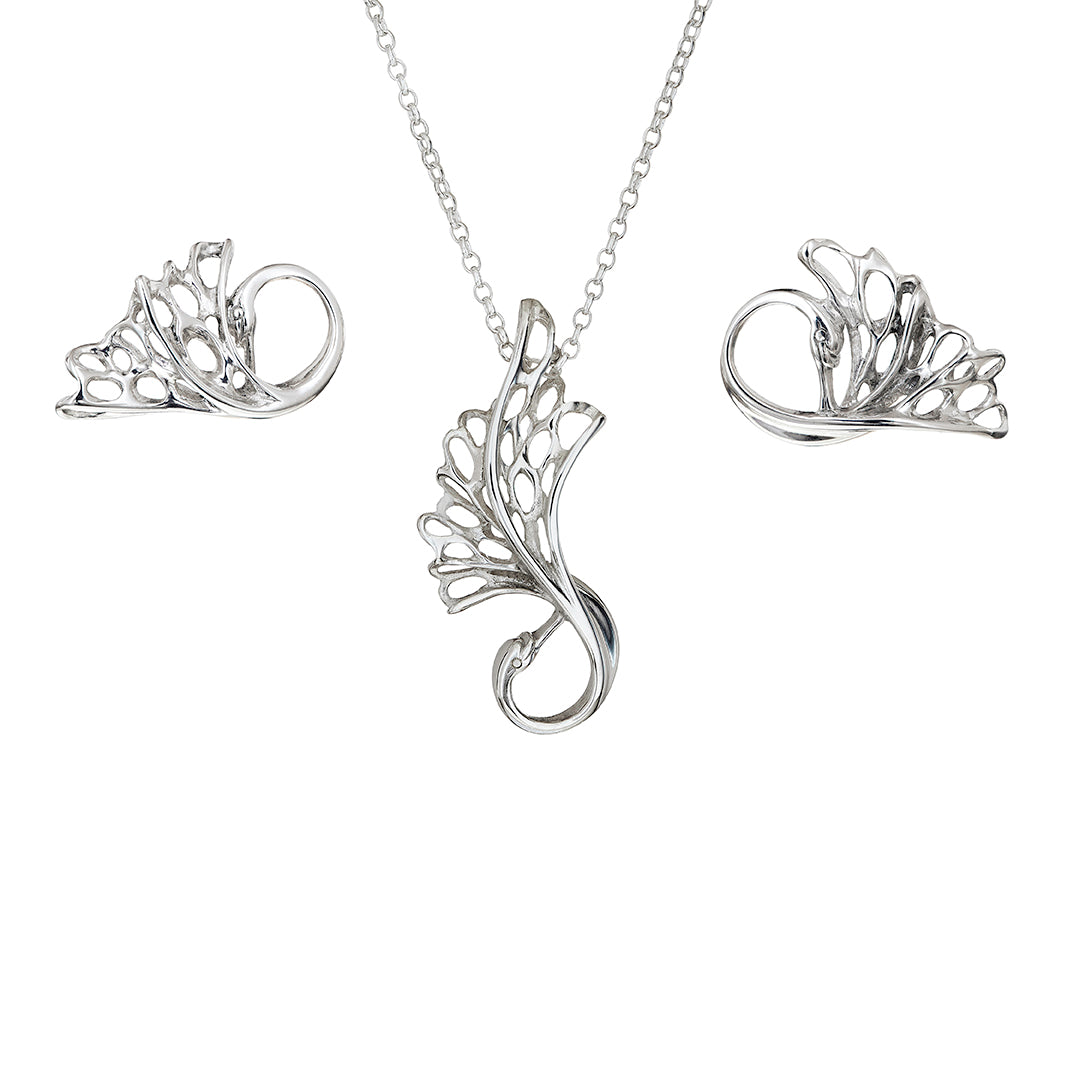 Delicate Swan Children of Lir Jewellery Set