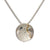 Cúrsa an tSaoil  medium concave pendant with a shiny Silver finish.