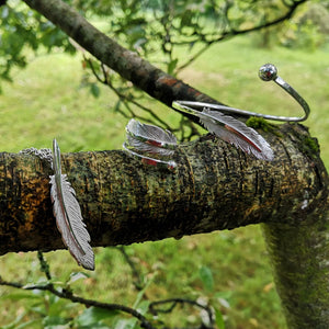 The Earth Angel Feather Bangle has matching items available.