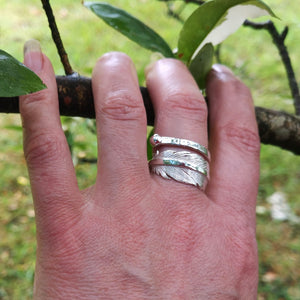 Earth Angel Feather Ring looks gorgeous on, a reminder that your angels are near.