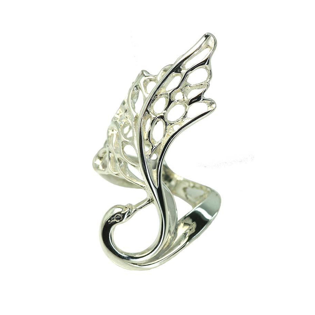 Swan Ring, handmade irish sterling silver jewelry, perfect gift for her or some special that they are sure to love! Also in gold!
