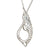 Swan Pendant Necklace and Chain. Jewellery designed with Sterling Silver.