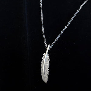 The Earth Angel Feather Pendant is a unique handcrafted pendant, made by Cavan based Jewellery Designer Elena Brennan.