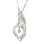 Children of Lir Elegant Swan Pendant Sterling Silver with 9ct Gold Heart and chain.