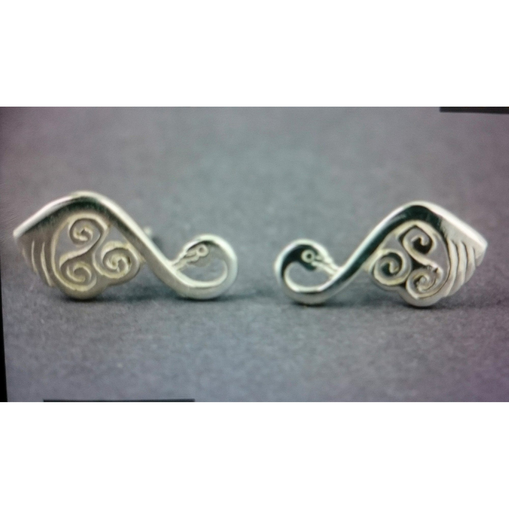 Celtic Swan Stud Earrings, Sterling Silver Jewelry, part of a set with a special pendant, a perfect gift for a special one!
