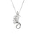 Single Swan Pendant from the Children of Lir collection. Silver Sterling handmade Jewellery.