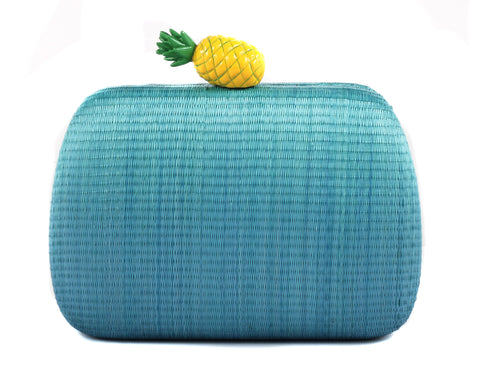 ISLA SMALL PINEAPLE CLUTCH