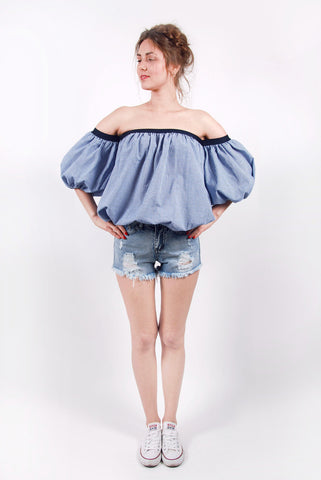 Puffed Sleeves Top