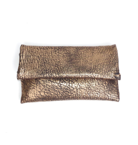 Bronze Leather Clutch