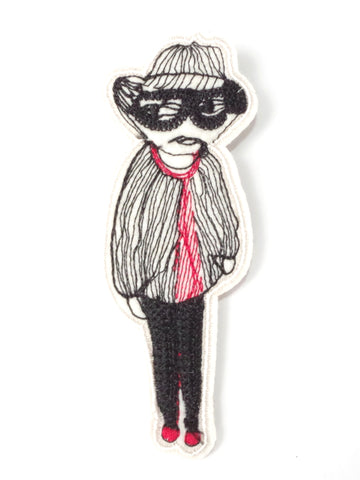 "Handmade Brooch ""Man"""