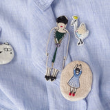 "Handmade Brooch ""Girl"""