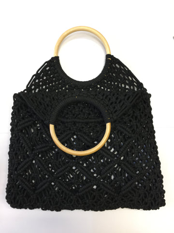 Macrame Bag Black