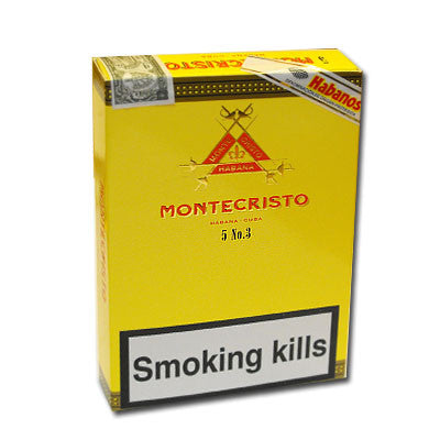 Montecristo No. 3 cigars - pack of 5