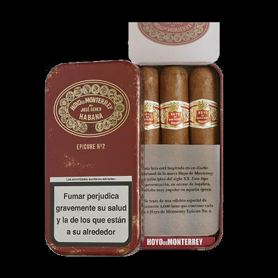 Hoyo De Monterrey Epicure No. 2 - pack of 3 - Limited Edition Retro Tin