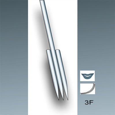 flat permanent makeup needle