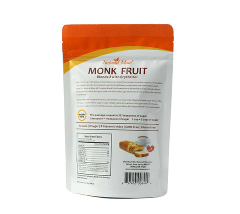 Monk Fruit All Purpose Granular Sweetener (16oz/Bag)
