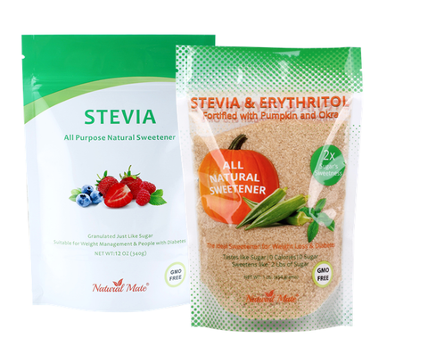 Natural Mate Stevia All Purpose Natural Sweetener, 5kgs/11Lbs | Free Gift: Monk Fruit Sweetener (10oz)