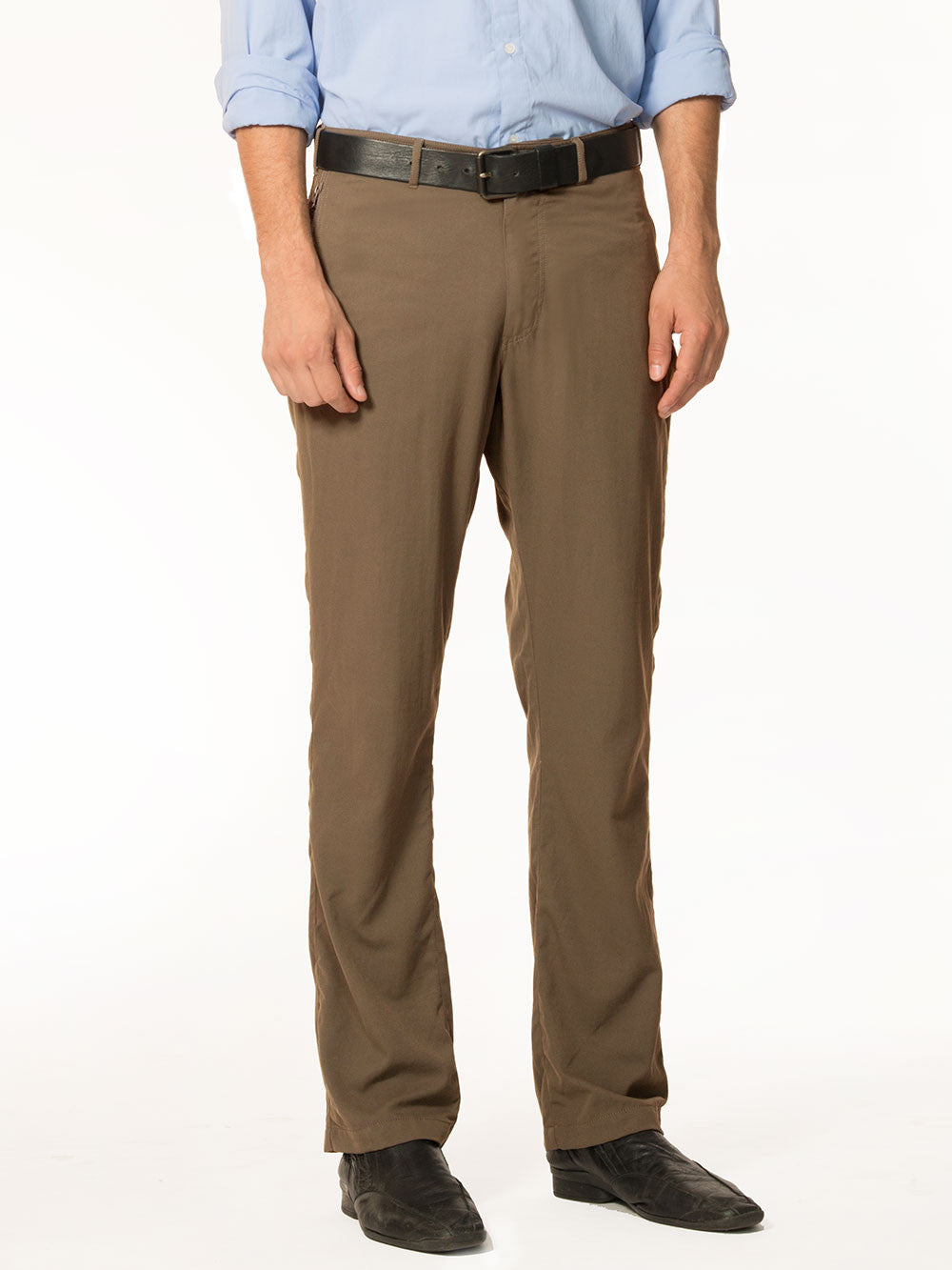 Summer business casual means looking well-put together while staying cool and that's just what a pair of wool and linen blended pants do. These pants can easily be the base of a casual outfit, just pair them with a trim polo shirt and a noticeable lack of socks.