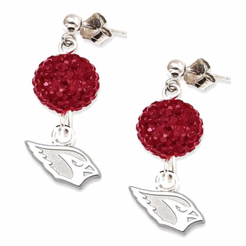 Arizona Cardinals Football Crystal Earrings