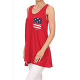 USA Red Tank Top