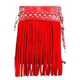 Crystal & Fringe Crossbody
