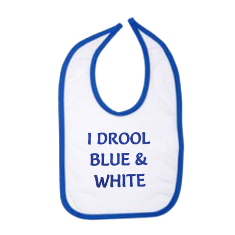 I Drool Blue & White Bib