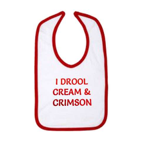I Drool Cream & Crimson Bib