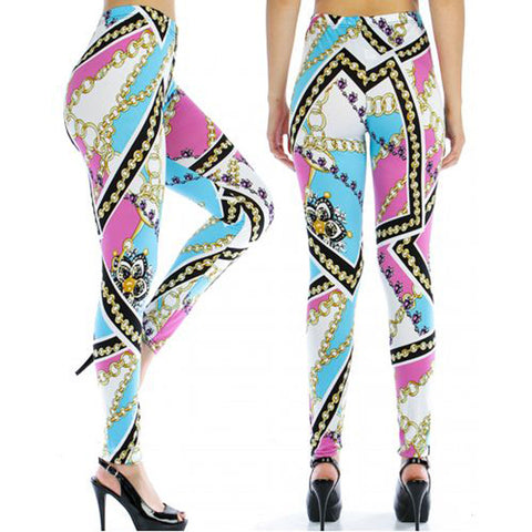 Gold Chain Link Leggings