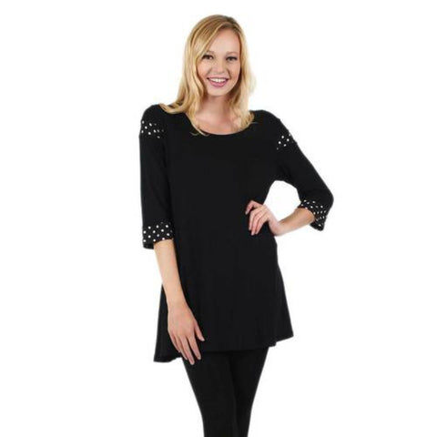 Tunic with Polka Dot Accents