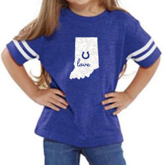 Indiana with Horseshoe Cut Out Toddler Shirt