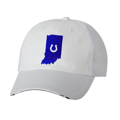 State of Indiana with Horseshoe Ladies Trucker Hat