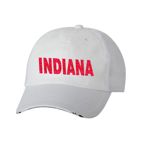 Indiana Ladies Distressed Trucker Hat