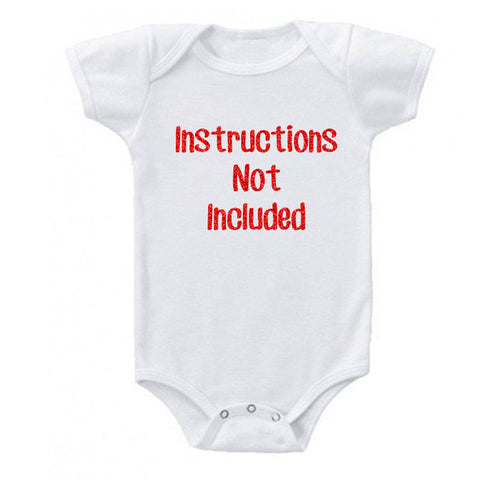 Instructions Not Included Glitter Onesie