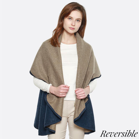 Double Sided Cape Shawl Vest